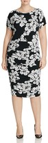 VINCE CAMUTO Plus Floral Print Ruched Dress