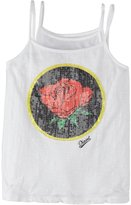 Diesel Double Layer Tank w/Sequin Rose (Kids) - White-10