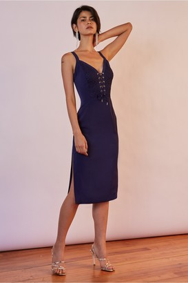 Finders Keepers HONEYMOON DRESS navy