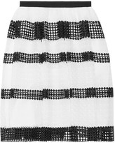 MICHAEL Michael Kors Paneled Crocheted Lace Skirt - White