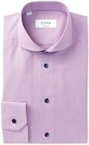 Eton Slim Houndstooth Contemporary Fit Dress Shirt