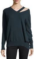 Autumn Cashmere Slash V-Neck Oversized Pullover Sweater