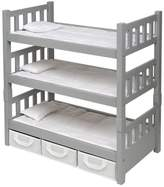 Badger Basket 1-2-3 Convertible Doll Bunk Bed with 3 Storage Baskets - Executive Gray
