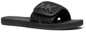 Michael Kors Michael Signature Logo Pool Slide Sandals Women's Shoes