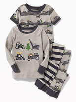 Old Navy 4-Piece Construction-Graphic Sleep Set for Toddler & Baby