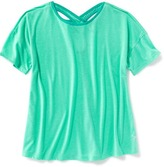 Old Navy Go-Dry Cutout-Back Performance Tee for Girls