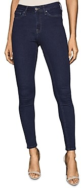 Reiss Lux Mid Rise Skinny Jeans in Indigo