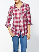 C&C California Plaid Roll Sleeve Pocket Shirt