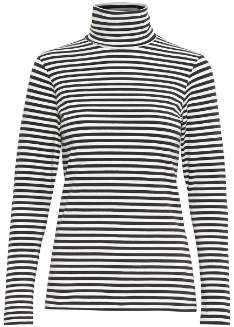 Part Two - Cotton Striped Neck Sweater - m | cotton