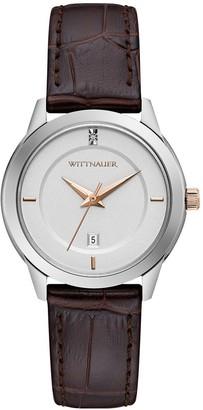 Wittnauer Women's Brown Strap Diamond Accent Watch