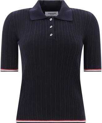 Thom Browne Tri-Stripe Detail Polo Shirt