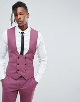 Noose & Monkey Super Skinny Suit Waistcoat