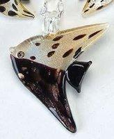 UG Fish Ebony Necklace Adornment Pendant Jewel Jewelry Accessory Charm
