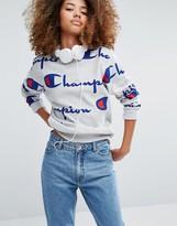 Champion Oversized Sweatshirt With All Over Logo Print