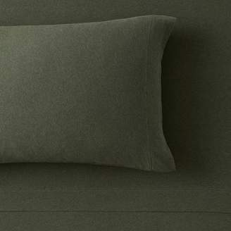 Pottery Barn Teen Favorite Tee Pillowcases, Set of 2, Heathered Olive