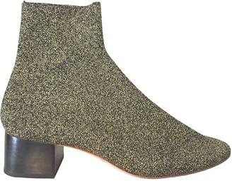 Loeffler Randall Gold Glitter Ankle boots