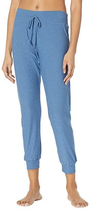 Beyond Yoga Lightweight Spacedye Lounge Around Midi Joggers (Washed Denim) Women's Casual Pants