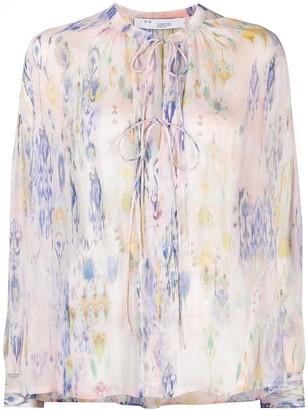 IRO Tie-Dye Long Sleeve Blouse