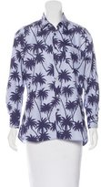 Tomas Maier Palm Tree Button-Up Top