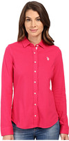 U.S. Polo Assn. Knit Pique Button Up Shirt