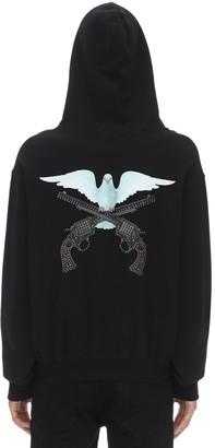 3.Paradis Dove Printed Zip-Up Sweatshirt Hoodie