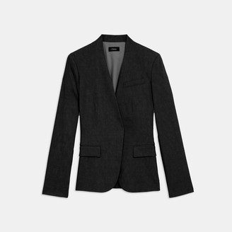 Theory Staple Collarless Blazer in Good Linen