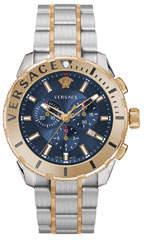 Versace Men's 48mm Casual Chronograph Watch w/ Bracelet Strap, Gold/Steel
