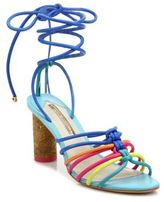 Sophia Webster Copacabana Cork-Heel Multicolor Leather Sandals