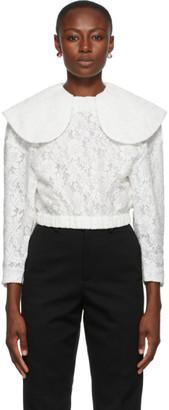 SHUSHU/TONG White Round Collar Blouse