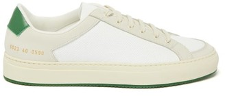 Common Projects Achilles Retro Suede And Leather Trainers - Green White