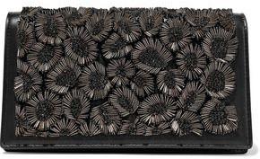 Roberto Cavalli Bead-embellished Leather Shoulder Bag