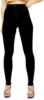 Topshop TALL Black Hold Power Joni Jeans 34-Inch Leg
