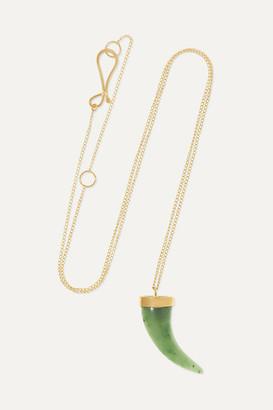 Melissa Joy Manning 14-karat Gold Jade Necklace