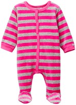 Coccoli Velour Striped Footie (Baby)