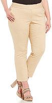Vince Camuto Plus Front Zip Ankle Pant
