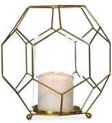 Home Essentials Gold-Tone Geo Lantern
