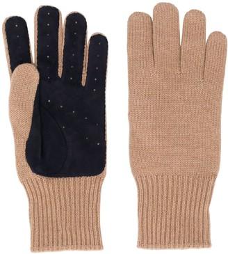Brunello Cucinelli Panelled Knitted Gloves