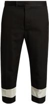 Haider Ackermann Orbai slim-leg cropped wool trousers