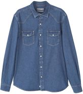 MANGO Men's Dark wash denim shirt