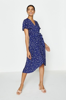Coast Spotty Tie Front Detail Wrap Dress