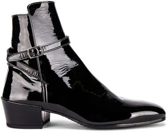 Saint Laurent Clementi Jodhpur Booties in Black | FWRD