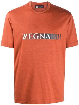 Ermenegildo Zegna logo print wool T-shirt