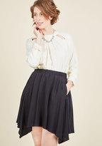 Get Your Foot in the Dorm Mini Skirt in Black in XXS