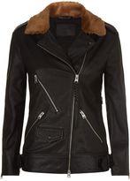 AllSaints Sherwood Leather Biker Jacket