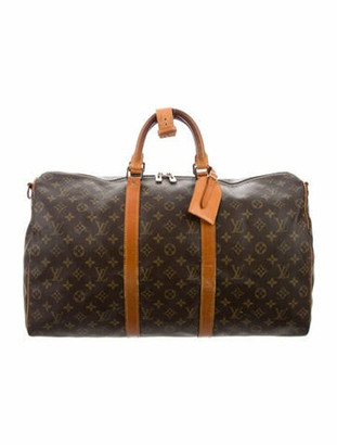 Louis Vuitton Vintage Monogram Keepall 50 Bandouliere Brown