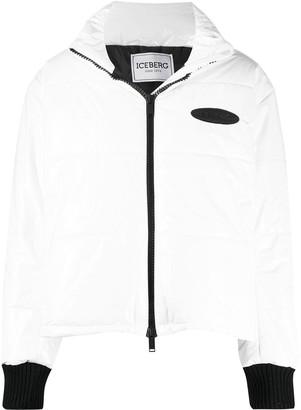 Iceberg Logo Patch Puffer Jacket
