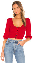 MinkPink Kyla Shirred Crop Top