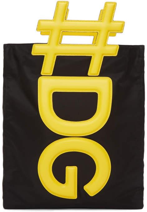 Dolce & Gabbana Black and Yellow Logo Tote
