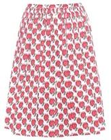 Prada Printed Cotton-blend Skirt