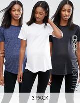 Asos T-Shirt In Linen Mix 3 Pack